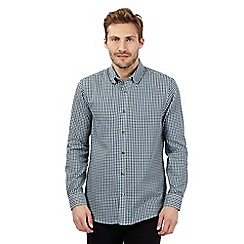 The Collection - Big and tall green twill gingham checked shirt