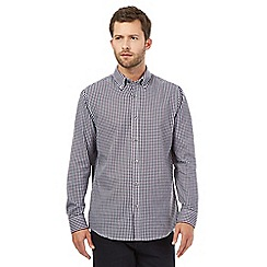 The Collection - Big and tall purple twill gingham shirt