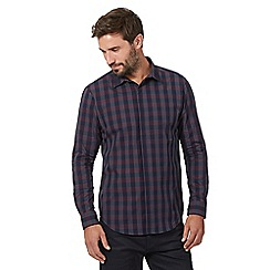 The Collection - Big and tall plum check print shirt