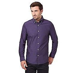 The Collection - Big and tall purple stripe long sleeve shirt