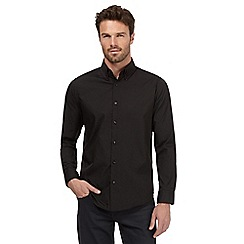 The Collection - Big and tall black striped tailored fit shirt
