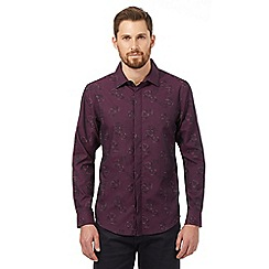 The Collection - Big and tall purple rose print shirt