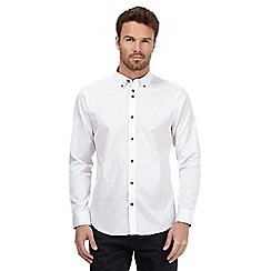The Collection - Big and tall white silver striped shirt