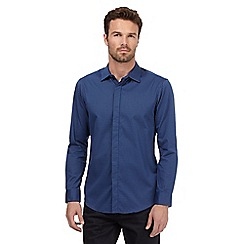 The Collection - Blue spot long sleeve shirt