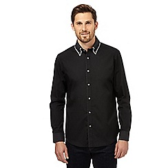The Collection - Black double collar long sleeve shirt