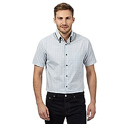 The Collection - Big and tall white geometric circle short sleeved shirt