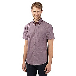 The Collection - Big and tall plum dot tailored fit shirt