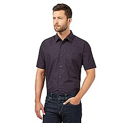 The Collection - Big and tall purple mini floral shirt