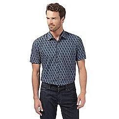 The Collection - Grey abstract diamond print shirt