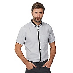 The Collection - Big and tall white 'dobby' short sleeve shirt