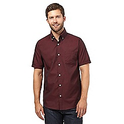 The Collection - Big and tall dark red striped shirt