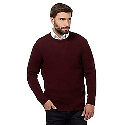 The Collection - Big and tall dark red crew neck jumper