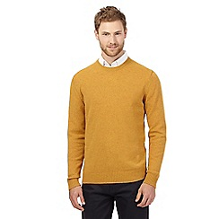 The Collection - Big and tall yellow crew neck lambswool jumper