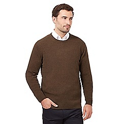 The Collection - Big and tall khaki wool blend crew neck jumper