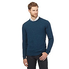 The Collection - Big and tall turquoise crew neck lambswool blend jumper