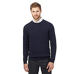 The Collection - Big and tall blue crew neck lambswool blend jumper