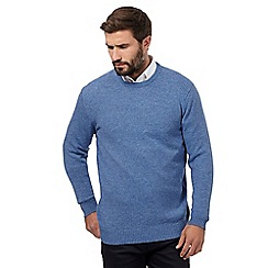 The Collection - Big and tall mid blue crew neck jumper