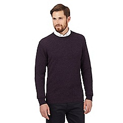 The Collection - Purple crew neck lambswool blend jumper