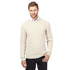 The Collection - Big and tall white crew neck lambswool blend jumper