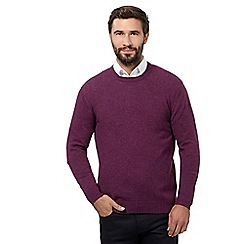 The Collection - Big and tall purple crew neck jumper