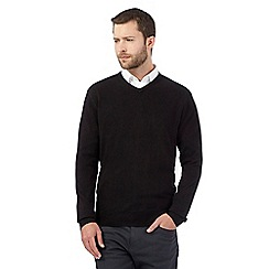 The Collection - Black V neck acrylic jumper