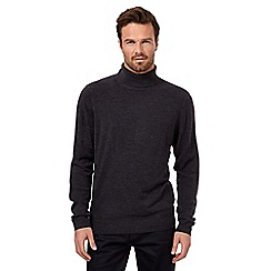 The Collection - Dark grey roll neck jumper