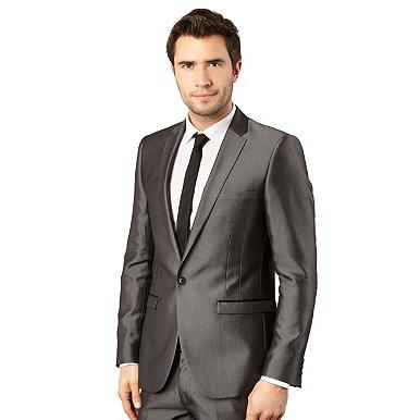 Light grey tonic suit jacket