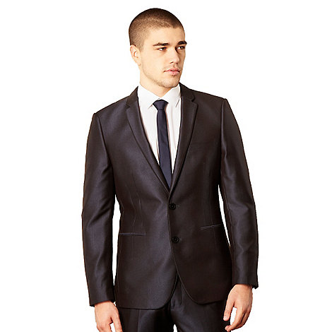 Thomas Nash - Big and tall blue tonic suit jacket