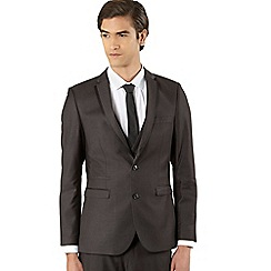 Thomas Nash - Big and tall dark grey split seam suit jacket