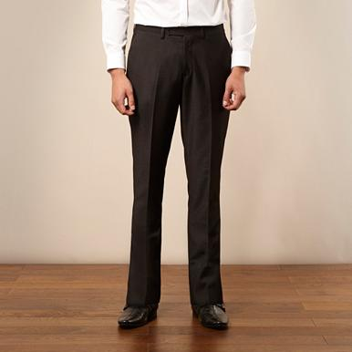Dark grey split seam formal trousers
