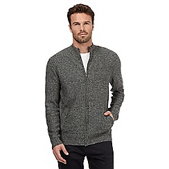 The Collection - Grey mixed yarn knitted cardigan