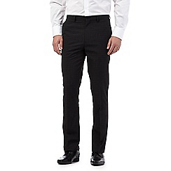 The Collection - Big and tall grey overcheck formal trousers