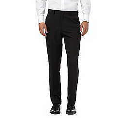 The Collection - Black pinstripe flat front trousers