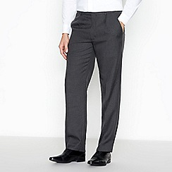 The Collection - Grey pin dot pleat front regular trousers