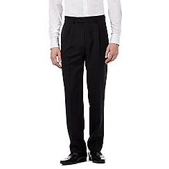 The Collection - Black herringbone pleated trousers