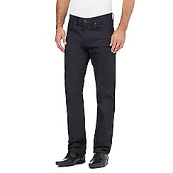 The Collection - Big and tall dark blue rinse wash straight fit jeans