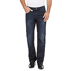 The Collection - Big and tall dark blue wash straight leg jeans