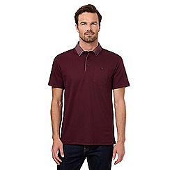 The Collection - Big and tall dark red button down polo shirt