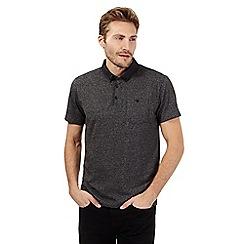 The Collection - Grey marl geo collar polo shirt