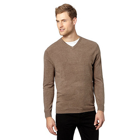 Thomas Nash - Beige v-neck jumper