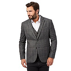 The Collection - Big and tall grey herringbone blazer