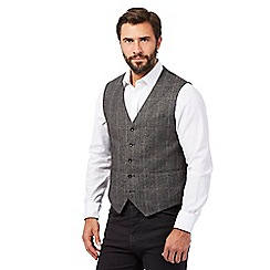 The Collection - Big and tall grey herringbone waistcoat