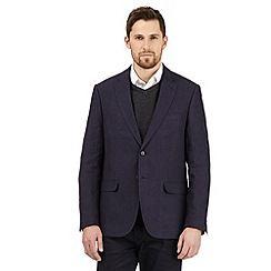The Collection - Big and tall navy linen blazer