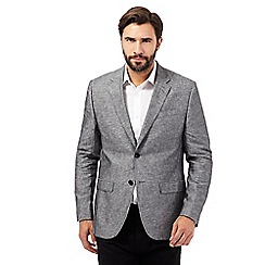 The Collection - Big and tall grey linen blend blazer
