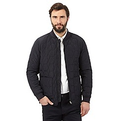 The Collection - Big and tall navy quilted bomber jacket