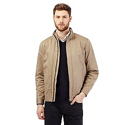 The Collection - Big and tall beige piped harrington coat