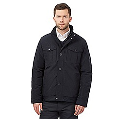 The Collection - Big and tall navy harrington jacket
