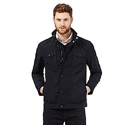 The Collection - Big and tall navy harrington coat