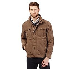 The Collection - Big and tall tan harrington coat