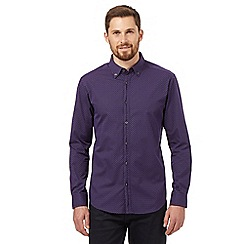 The Collection - Purple long sleeved dash shirt